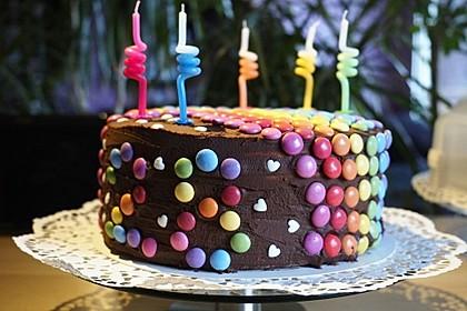 Regenbogentorte – Rainbow cake 11