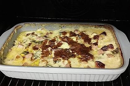 Kartoffelauflauf mit Senf-Sahne-Käse-Soße