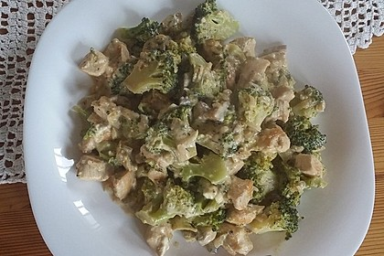 Hähnchen-Brokkoli-Topf mit Champignons 3