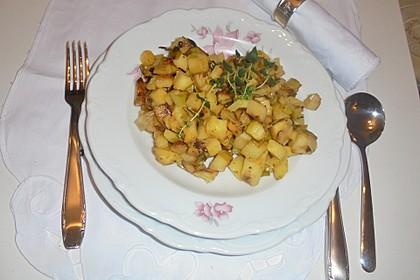 Kartoffelpfanne mit Lauch (Bild)
