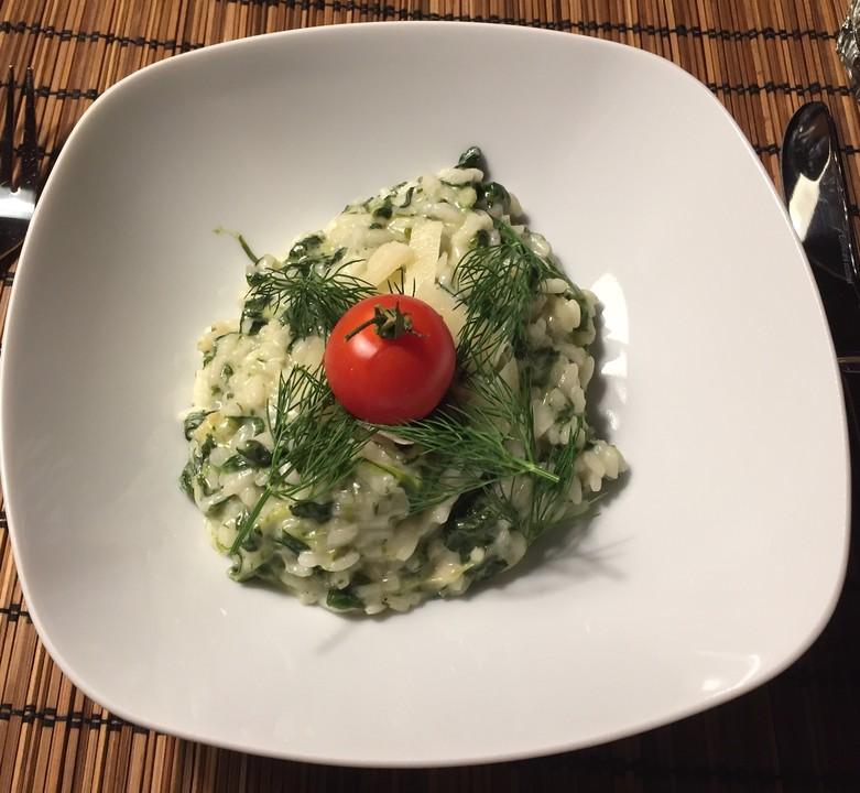 limetten risotto mit spinat rezept mit bild von chefkoch video. Black Bedroom Furniture Sets. Home Design Ideas