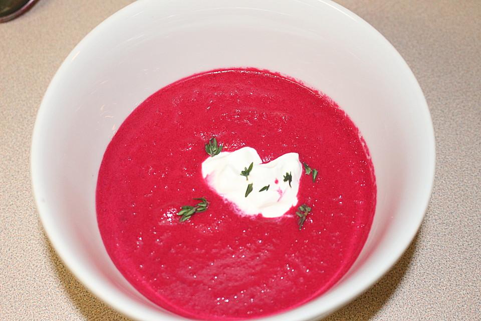 rote bete suppe rezept mit bild von sweetmari. Black Bedroom Furniture Sets. Home Design Ideas