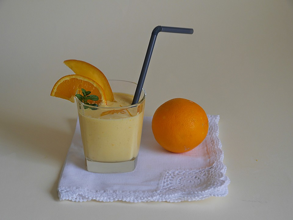 orangen mango smoothie mit haferflocken und ingwer rezept mit bild. Black Bedroom Furniture Sets. Home Design Ideas