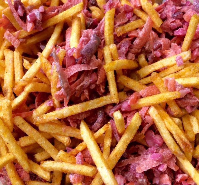 rote bete salat mit chips und mandeln rezept mit bild. Black Bedroom Furniture Sets. Home Design Ideas