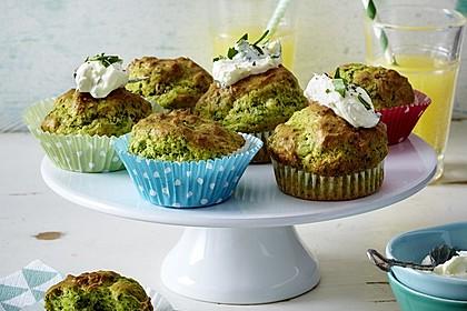 Rahm-Spinat-Muffins