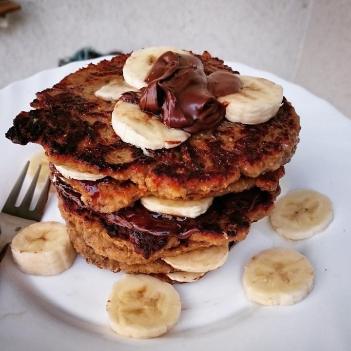 gesunde pancakes rezept mit bild von bergkind. Black Bedroom Furniture Sets. Home Design Ideas