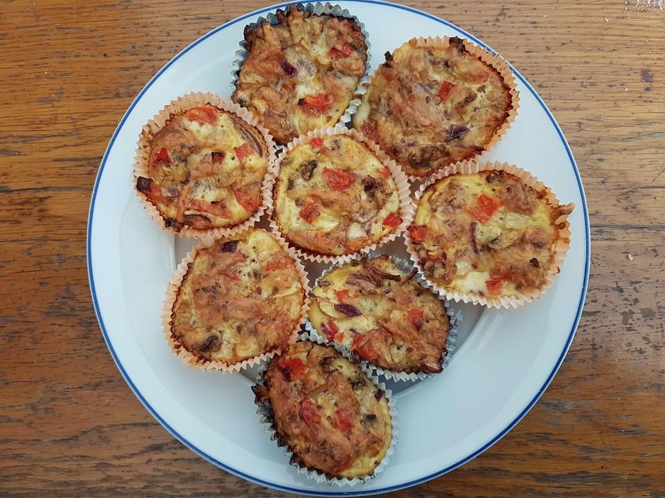 herzhafte low carb muffins