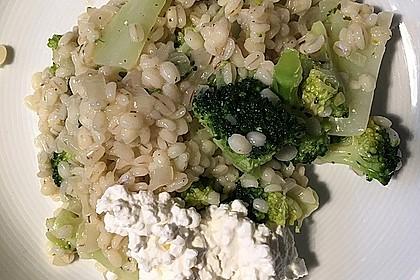 Gerstenrisotto mit Brokkoli