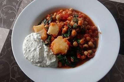 Jüdisch-palästinensische Honig-Süßkartoffeln mit Kichererbsen und Spinat 1