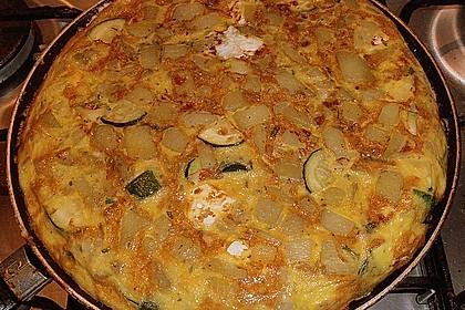 Kartoffel-Zucchini-Tortilla mit Brunnenkresse
