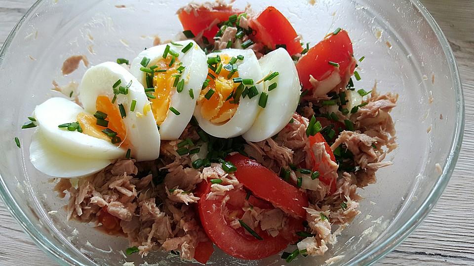 Wurziger Thunfisch Tomaten Salat Low Carb Von Icebox70 Chefkoch De