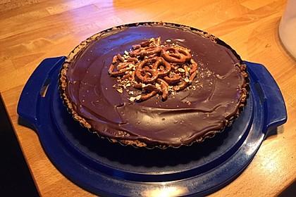 Peanutbutter-Chocolate Pie with Pretzel Crust 1