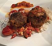 Bifteki, Djuvec Reis und selbstgemachtes Tzatziki