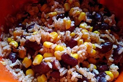 Reis-Mais-Bohnen-Salat