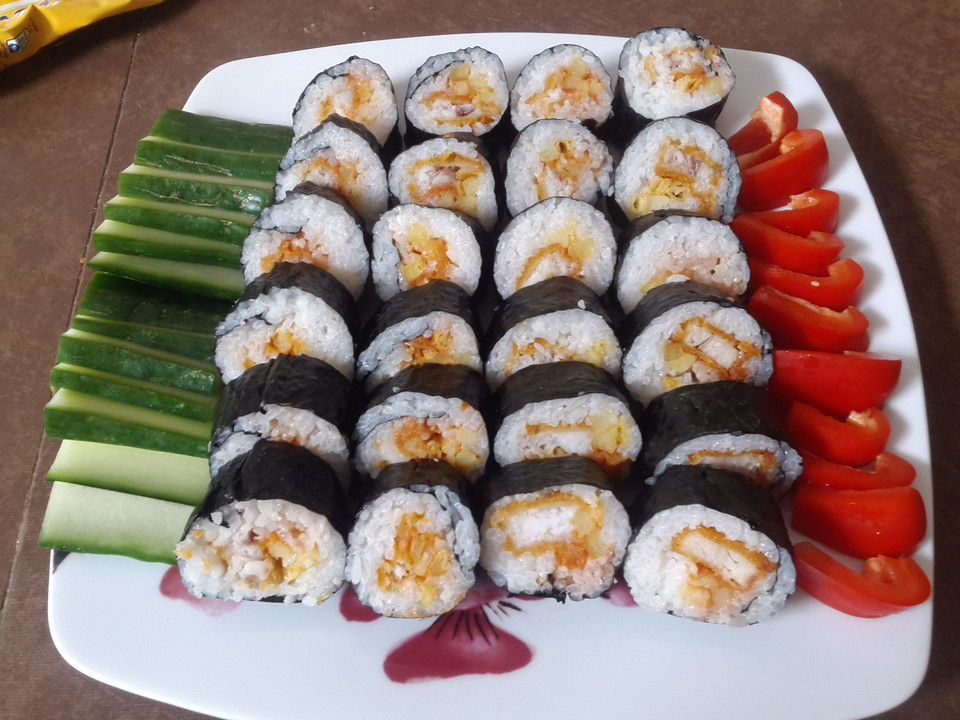 fish and chips sushi rezept mit bild von misaqui. Black Bedroom Furniture Sets. Home Design Ideas