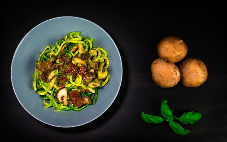 zucchini pilz salat rezept mit bild von der biokoch. Black Bedroom Furniture Sets. Home Design Ideas