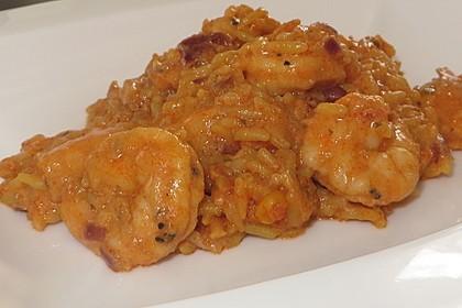 Curry mit Garnelen und Reis 1