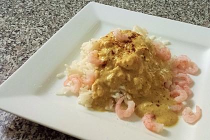 Curry mit Garnelen und Reis 2