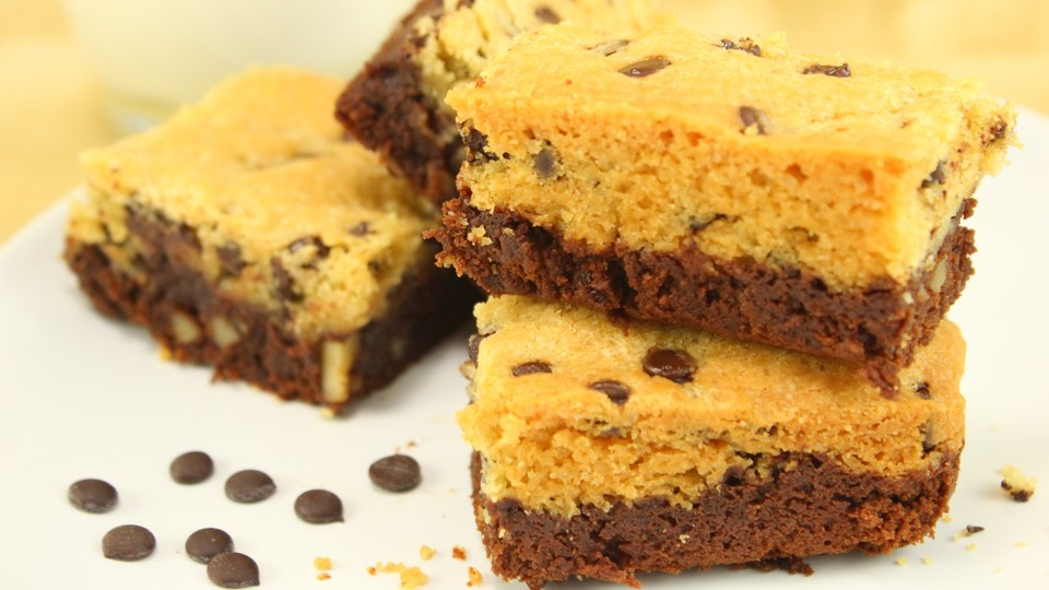 brookies brownies mit knuspriger cookie kruste von amerikanisch kochende. Black Bedroom Furniture Sets. Home Design Ideas