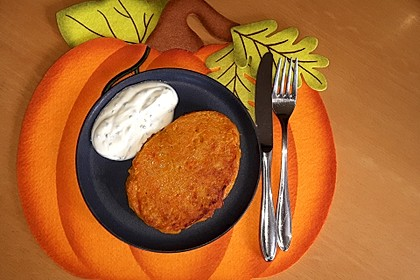 Pumpkin Patties - würzige Kürbis-Puffer