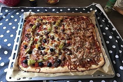 American Pizza Teig selber machen 11