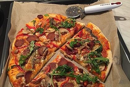 American Pizza Teig selber machen 6