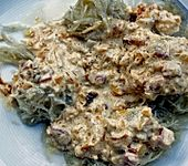 Kartoffelklöße mit Speck-Zwiebel-Sahne-Sauce