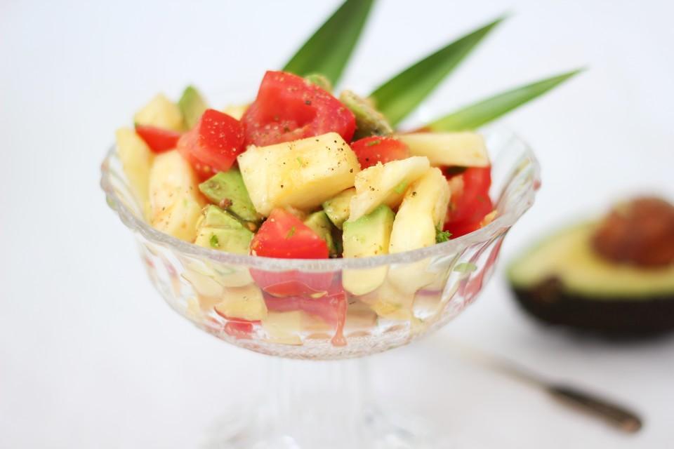 ananas avocado fitness salat rezept mit bild von littlewhitehome. Black Bedroom Furniture Sets. Home Design Ideas