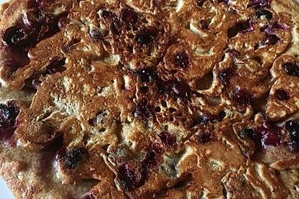 Bio-Vollkorn-Pancakes mit Heidelbeeren