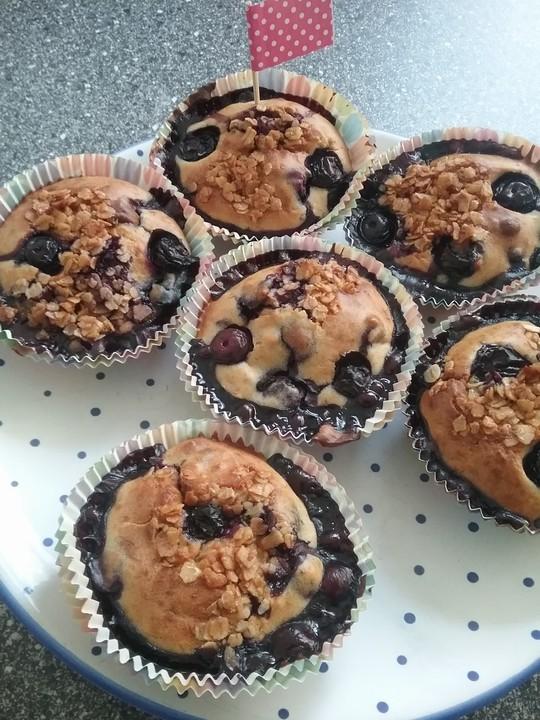 gesunde heidelbeer muffins rezept mit bild von mrsflury. Black Bedroom Furniture Sets. Home Design Ideas