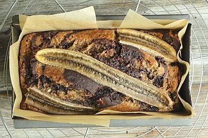 Veganes Zebra Schokoladen-Bananenbrot