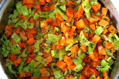 Karotten und Paprika an Zitronen-Kokos-Sauce