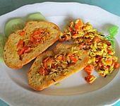 Möhren-Aprikosen-Reis in gebratenem Ciabatta