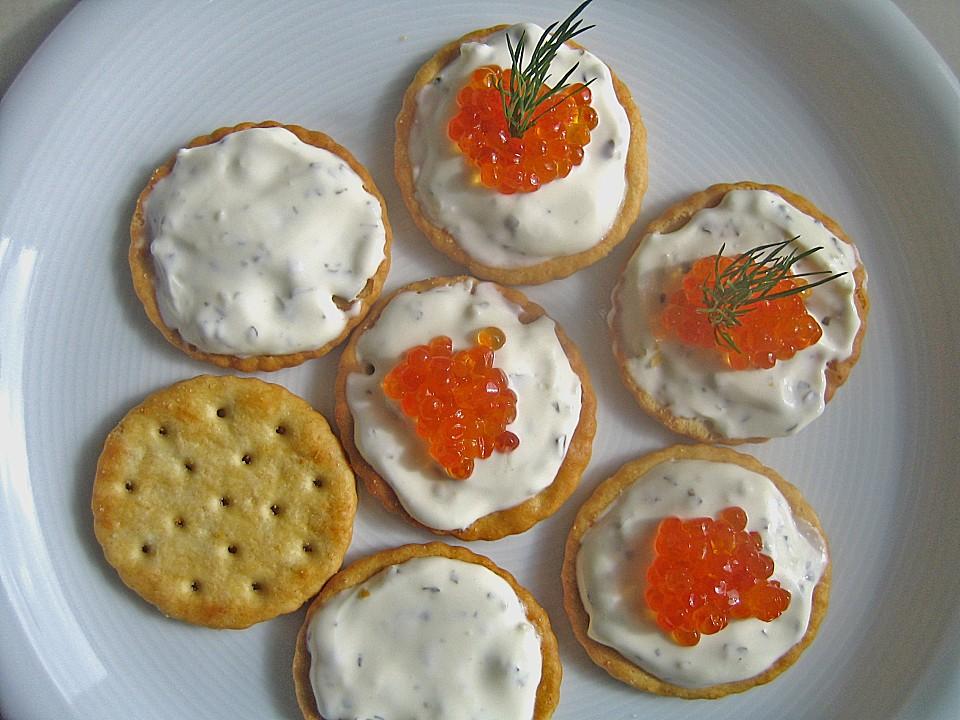 Reiskr cker mit kr uter cr me fra che und forellenkaviar for Ka che und wohnkultur