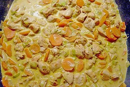 Gemüsepfanne mit Hähnchen 2