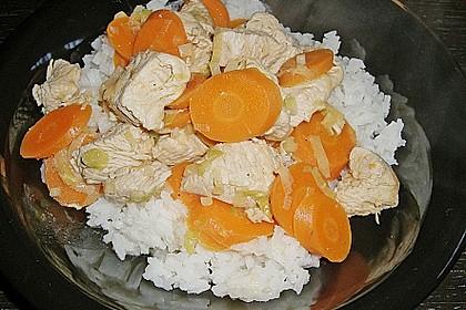 Gemüsepfanne mit Hähnchen 15