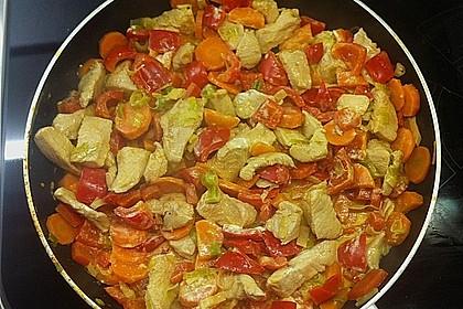 Gemüsepfanne mit Hähnchen 9