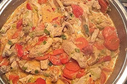 Gemüsepfanne mit Hähnchen 14