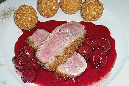 Barbarie - Entenbrust mit Portwein - Kirsch Sauce 9