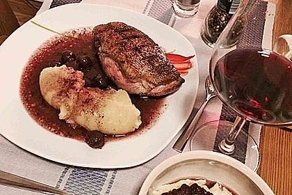 Barbarie - Entenbrust mit Portwein - Kirsch Sauce 22