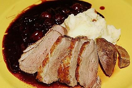 Barbarie - Entenbrust mit Portwein - Kirsch Sauce 11