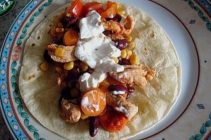 Mexikanische Tortilla - Wraps mit Hähnchenfüllung 21