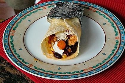 Mexikanische Tortilla - Wraps mit Hähnchenfüllung 11