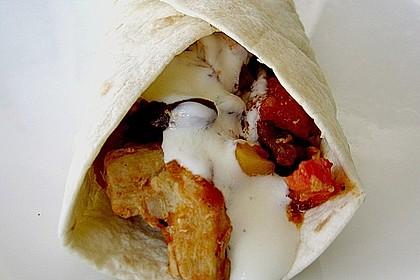 Mexikanische Tortilla - Wraps mit Hähnchenfüllung 1