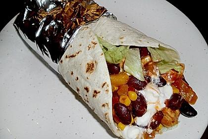 Mexikanische Tortilla - Wraps mit Hähnchenfüllung 4