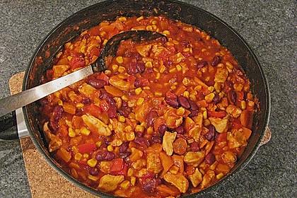 Mexikanische Tortilla - Wraps mit Hähnchenfüllung 26
