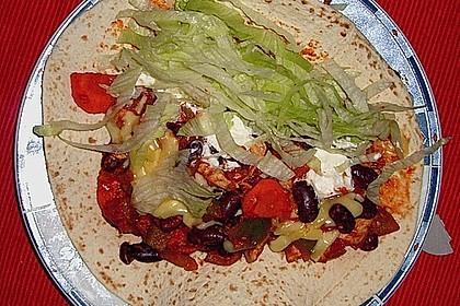 Mexikanische Tortilla - Wraps mit Hähnchenfüllung 7