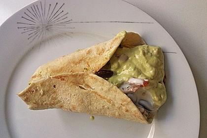 Mexikanische Tortilla - Wraps mit Hähnchenfüllung 23