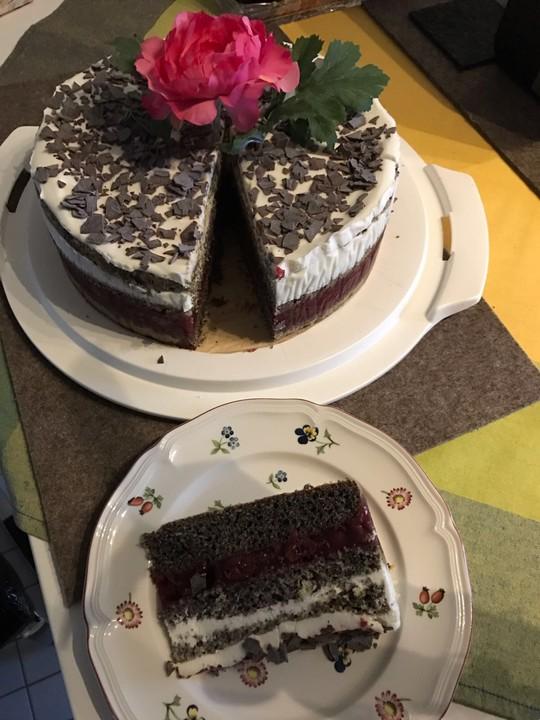 Mohn - Kirsch - Torte