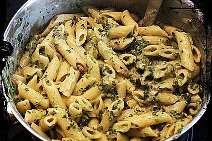 Vollkornnudeln mit Spinat - Käse Sauce 6